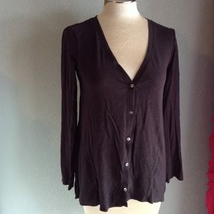GARNET HILL cotton jersey cardigan XS (D7)
